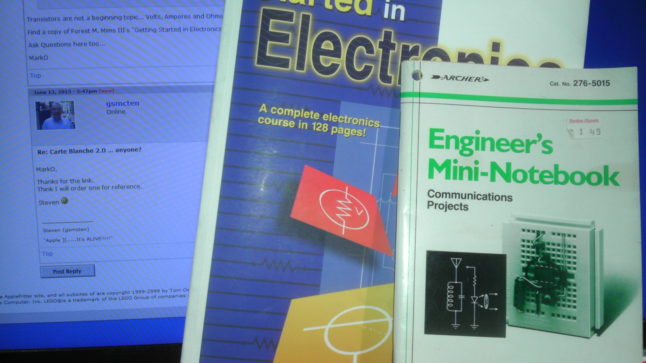 "Forest M. Mims III's ""Getting Started in Electronics"" and ""Engineer's Mini Notebook: Communications Projects"""