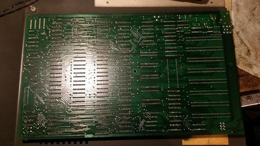 Apple ][+ Motherboard Solder Side
