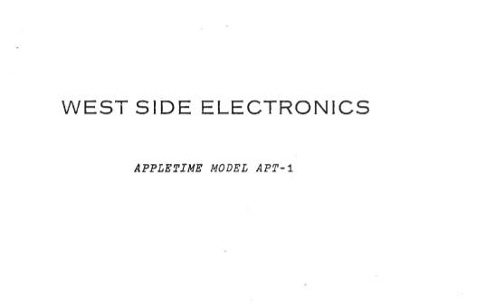AppleTime Manual