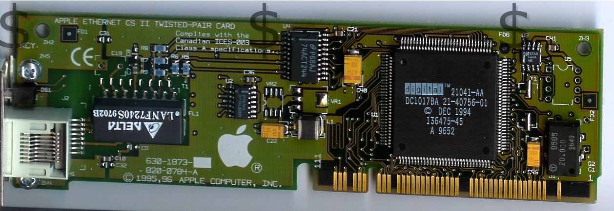 Apple Ethernet CS II Twisted-Pair card Front
