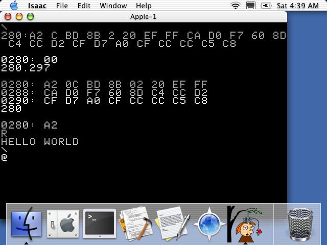 Hello World for Apple-1