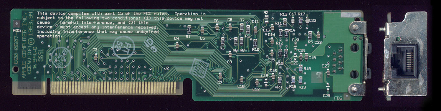Apple CS Ethernet Back