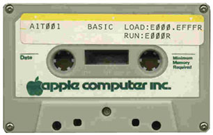 Apple I BASIC cassette