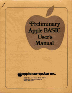 Apple I - BASIC manual 1