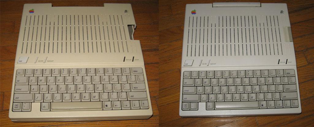 Apple IIc Retr0bright treatment