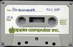 Apple I - DisAssembler cassette