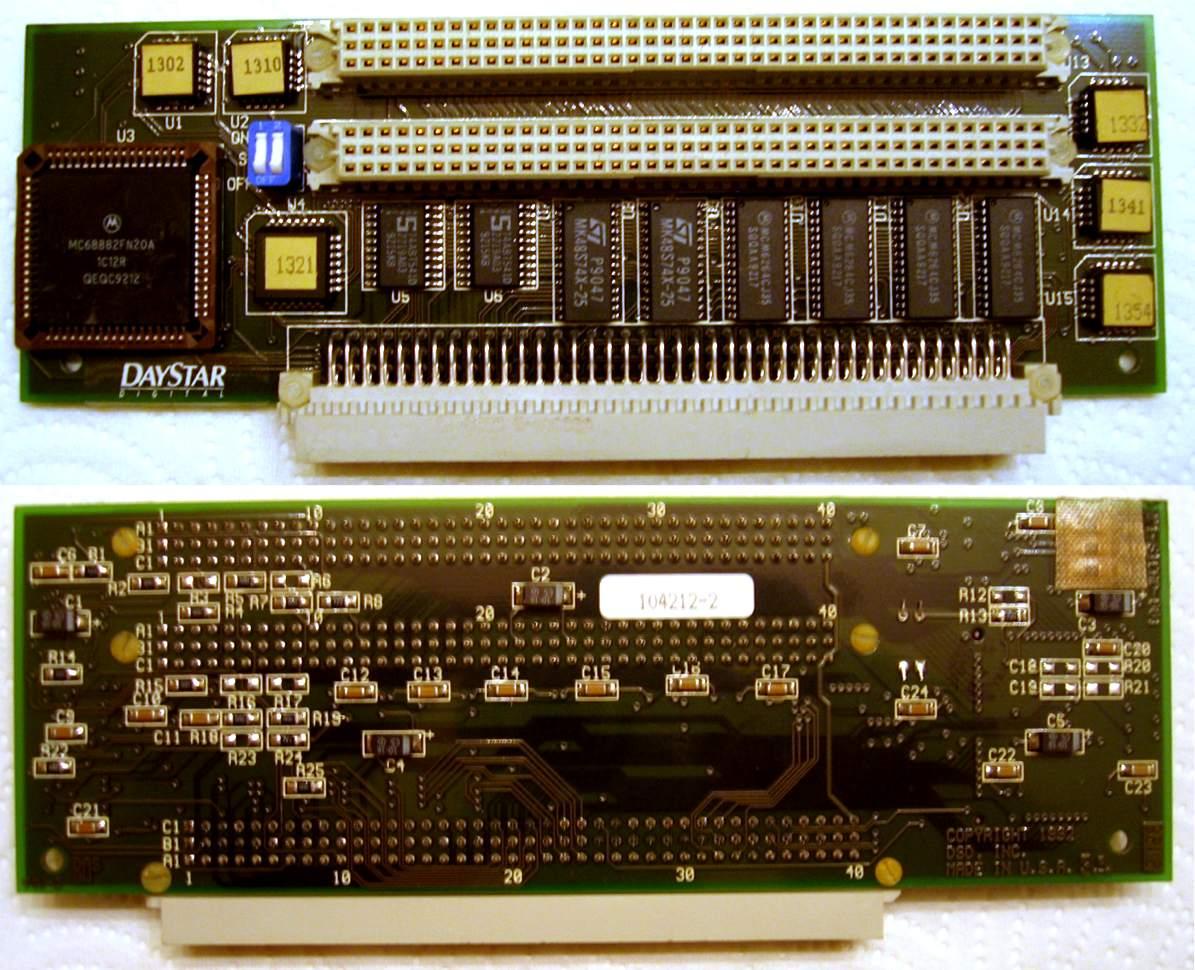 Daystar PDS FPU + 32 KB Cache & 2 PDS pass-through