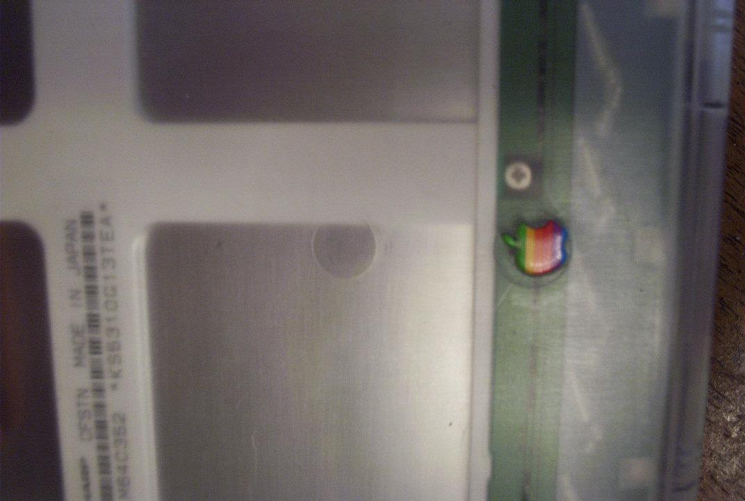 Clear Powerbook 5300 apple logo