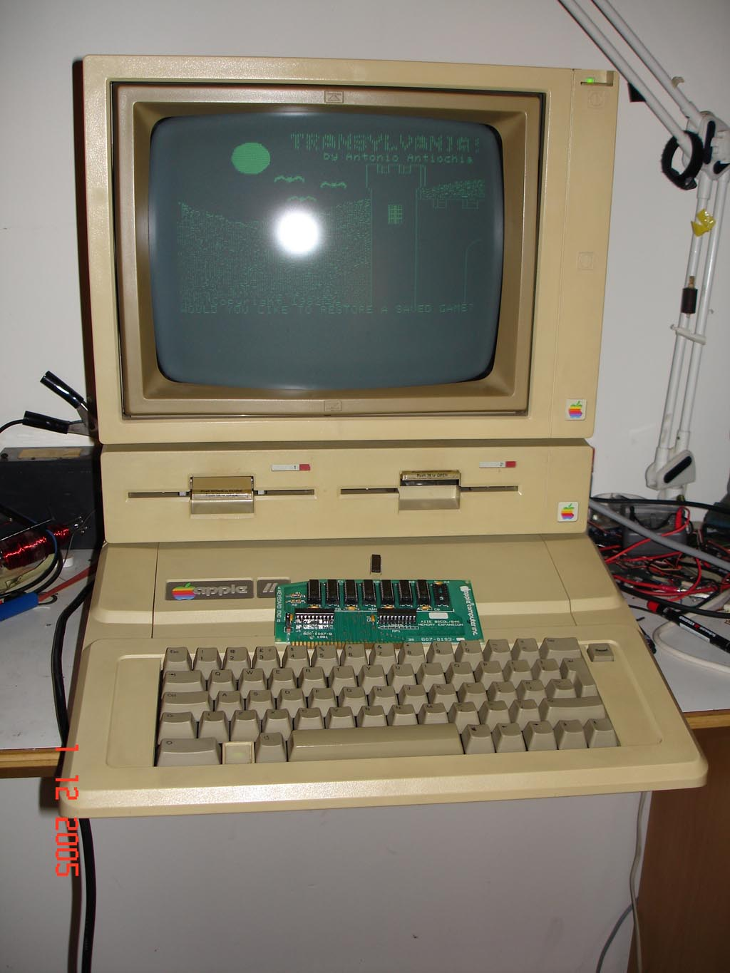 Apple IIe - repaired and back to life!