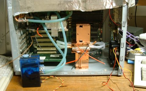 The case with the second water chiller enclosed