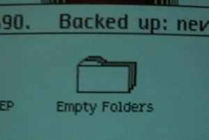 Apple Lisa - empty folder
