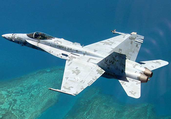 F-18 camouflage