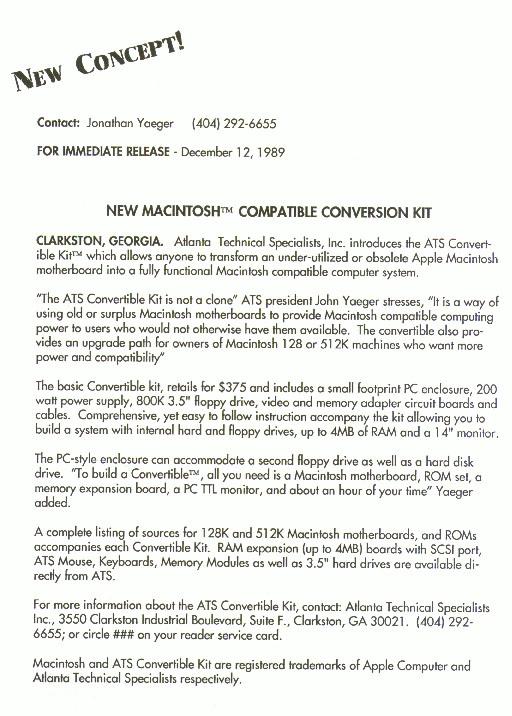 ATS Convertible - Introduction