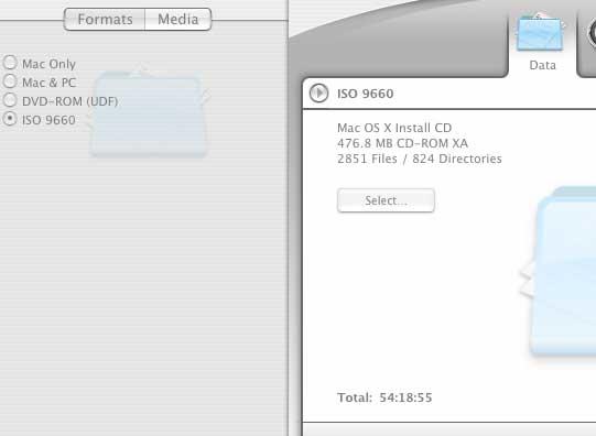 ISO 9660 select
