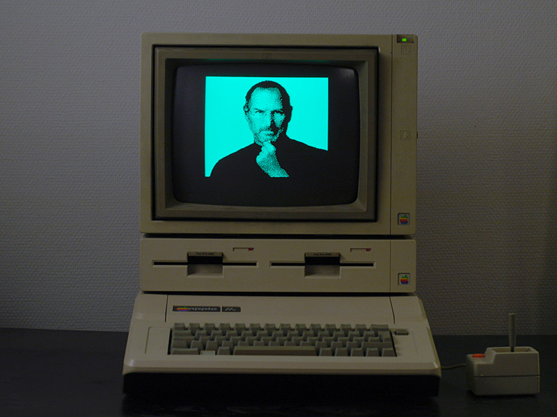 A tribute to Steve Jobs - created on an Apple IIe