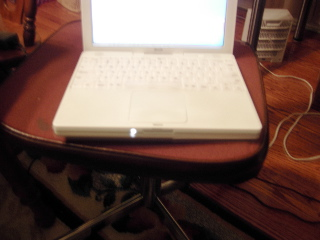 ibook with light on