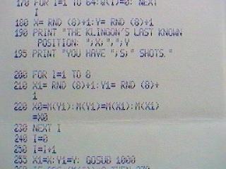 Apple I - printer output
