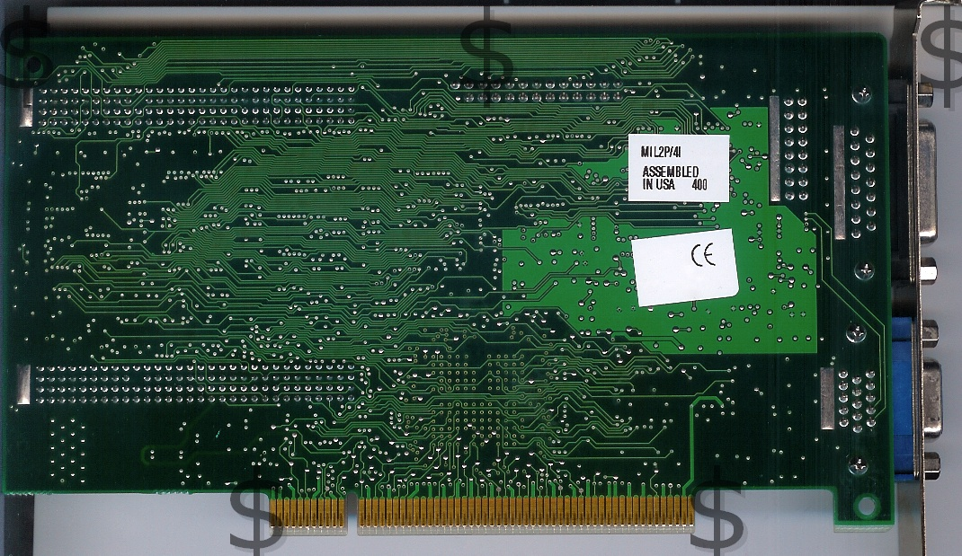 Matrox Millenium II PCI Back