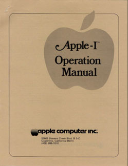 Apple I - New Operations Manual cover