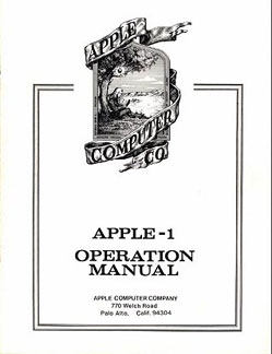 Apple I - Operations Manual cover