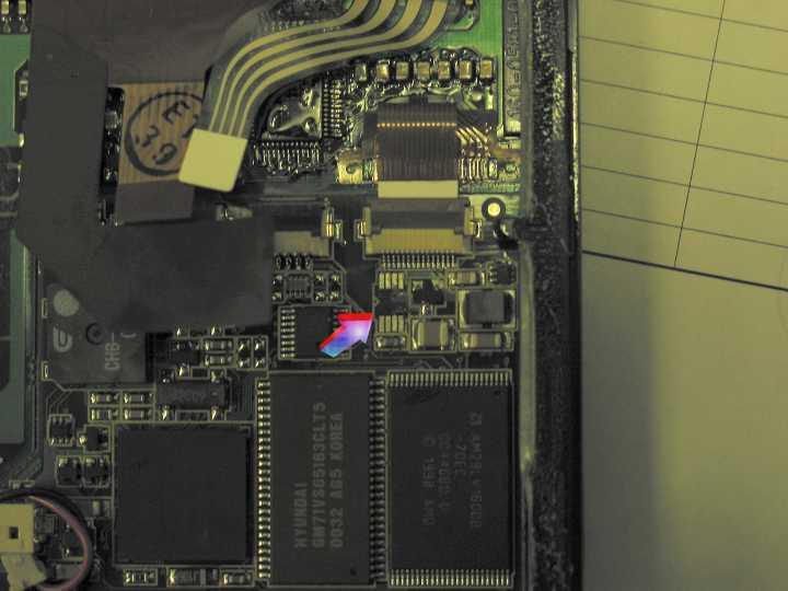 Palm VX faulty backlight chip