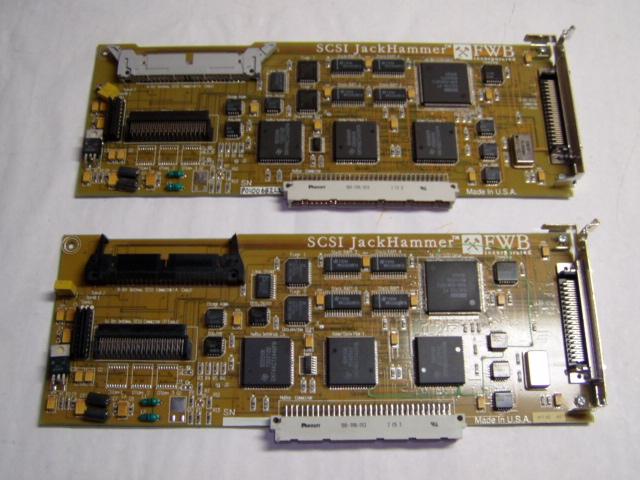 Two FWB NuBus SCSI JackHammer cards