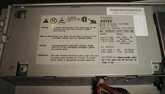 Piltdown Man - power supply