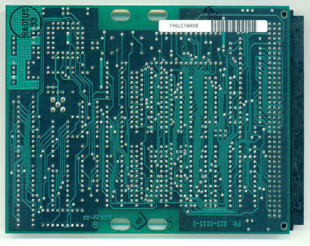 Radius Two-Page Display card - solder side