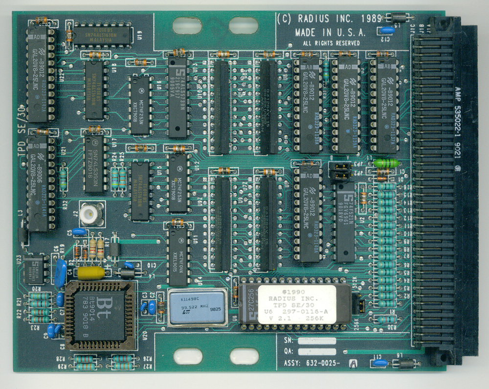 Radius Two-Page Display card - circuit side