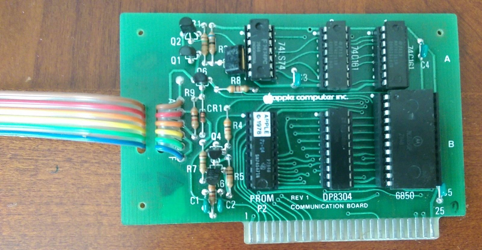 Apple ][ Rev 1 Communication Board ( Close Up )