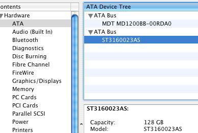 Sata device, system profiler