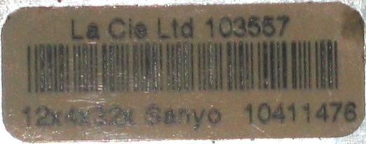 LaCie 12x4x32 SCSI CDRW - sticker