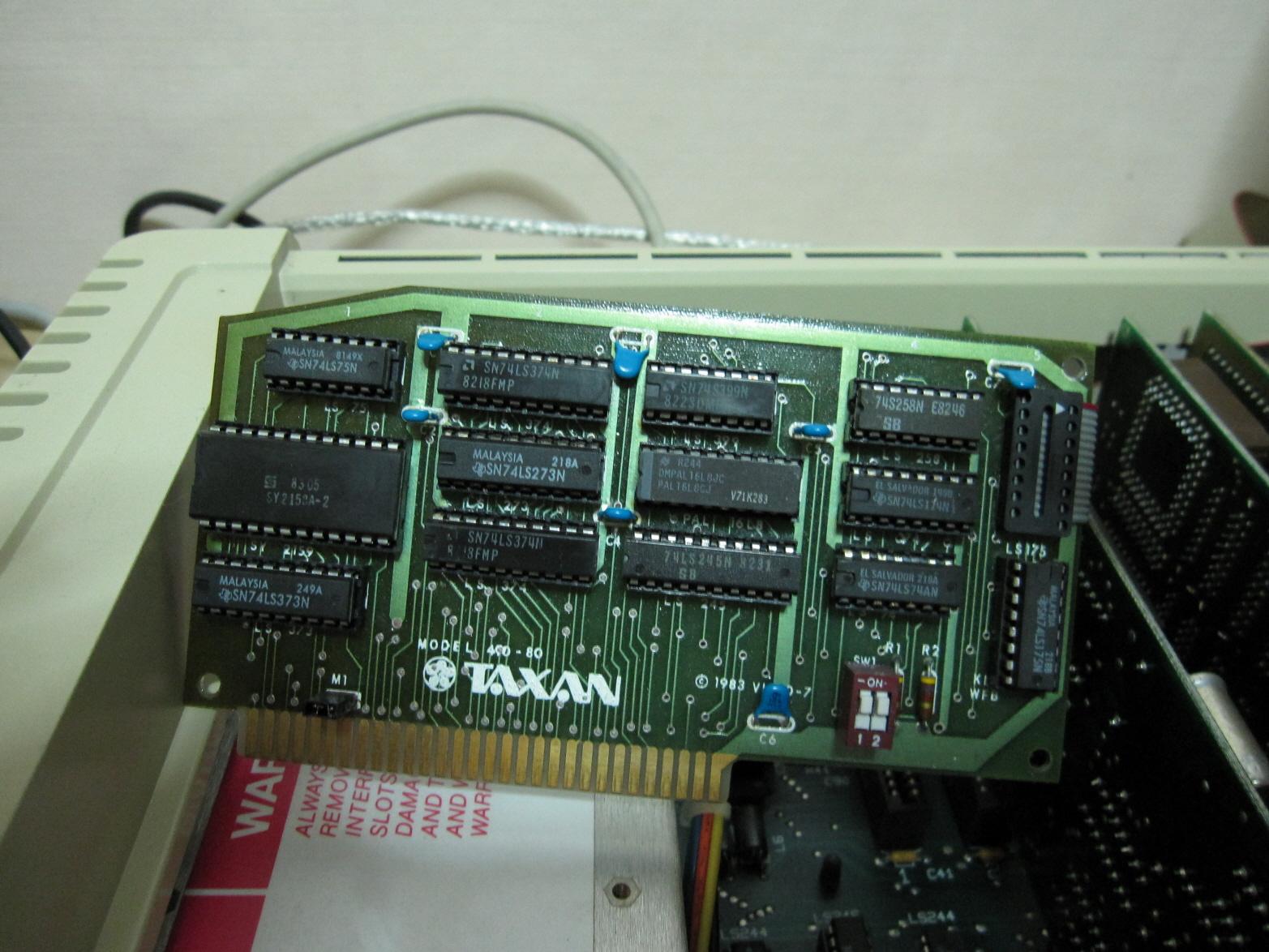 TAXAN 410-80 RGB Card for Apple //e