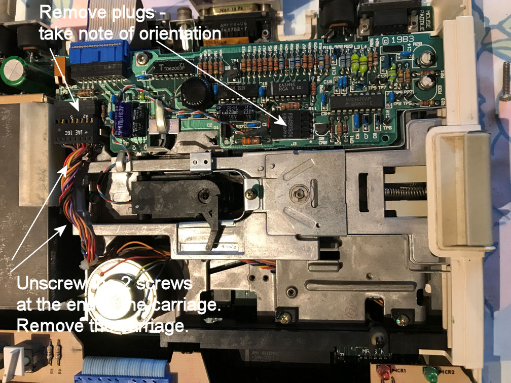 Inside ApplIe IIc ALPS disk drive