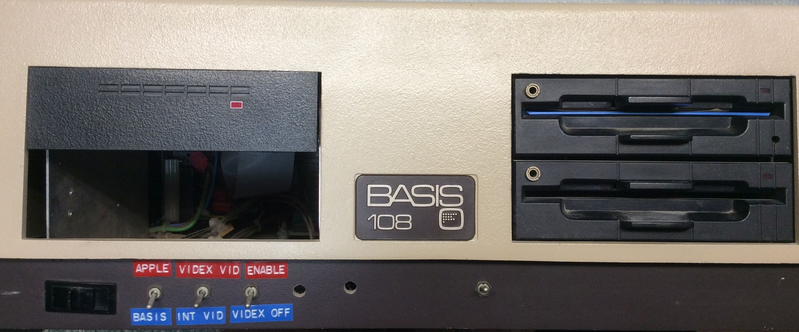 Modified Basis 108 Front Panel with Added Switches