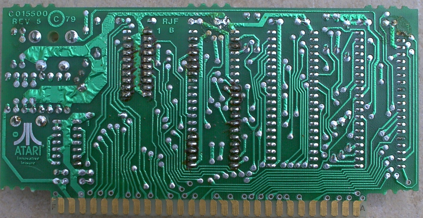 1970s wave soldered PCB bottom view
