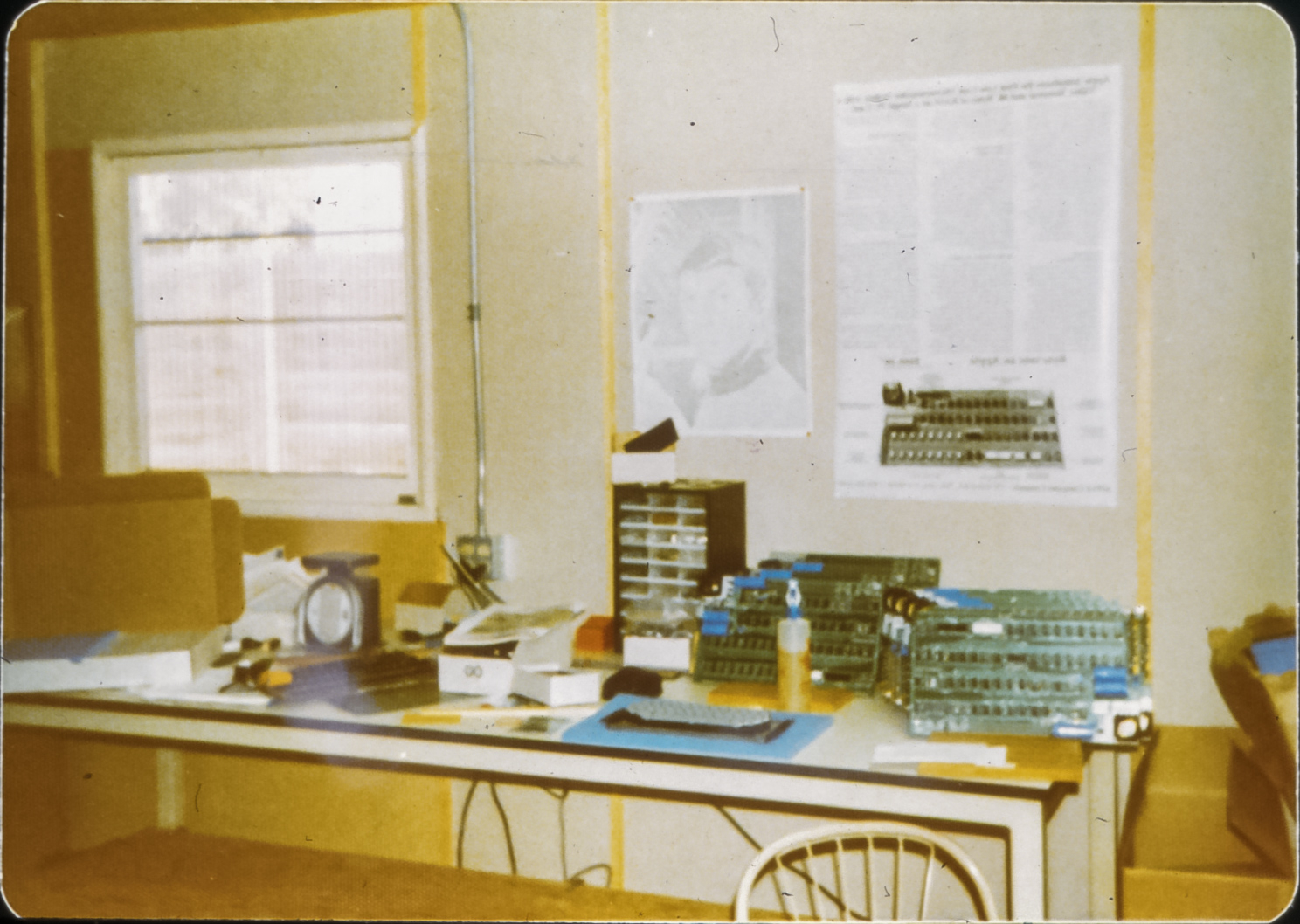 Apple-1 boards being assembled in the Jobs family home in 1976