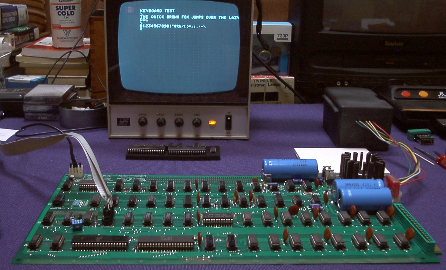 Apple-1 with Uncle Bernie's keyboard emulator cable
