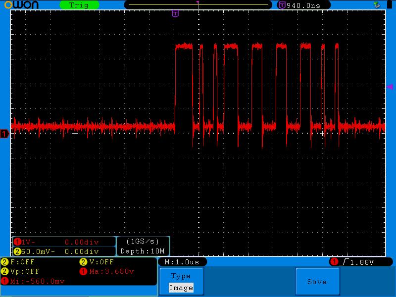 Apple II - Video data signal - very noisy