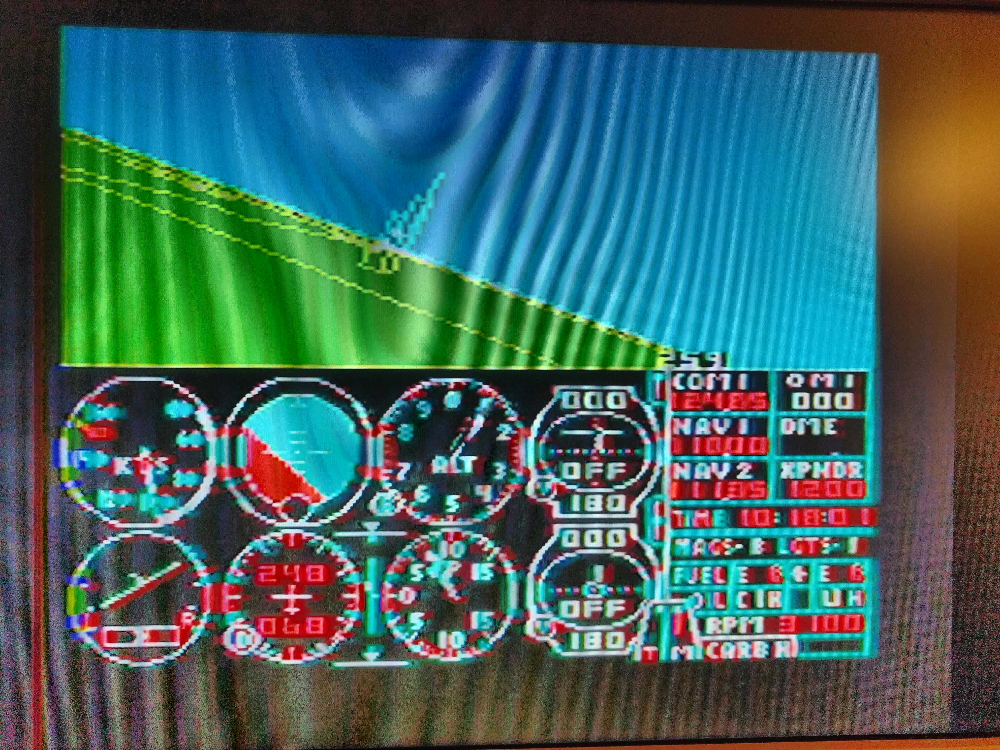 flight sim color