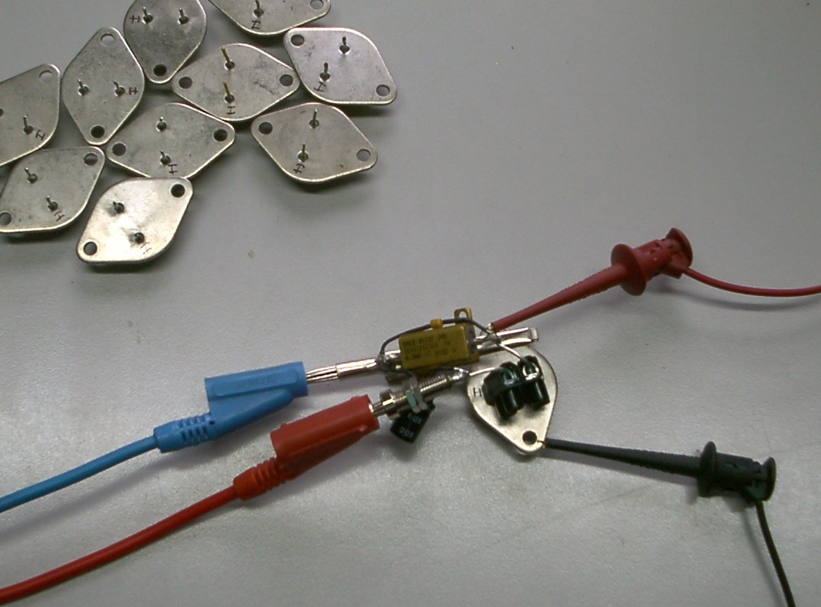 Test rig for LM323K regulators
