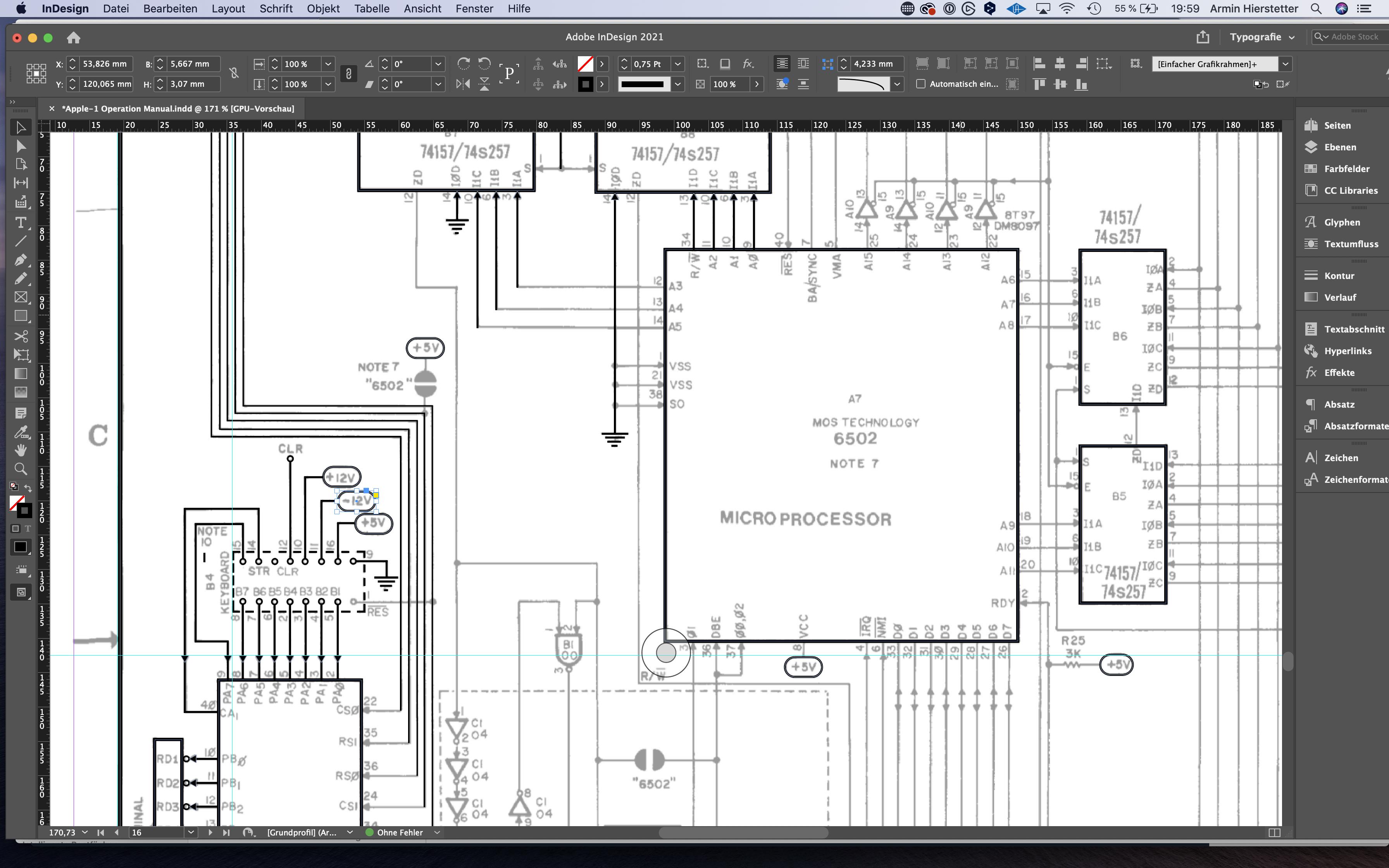 Rebuilding The Apple-1 Schematics With InDesign