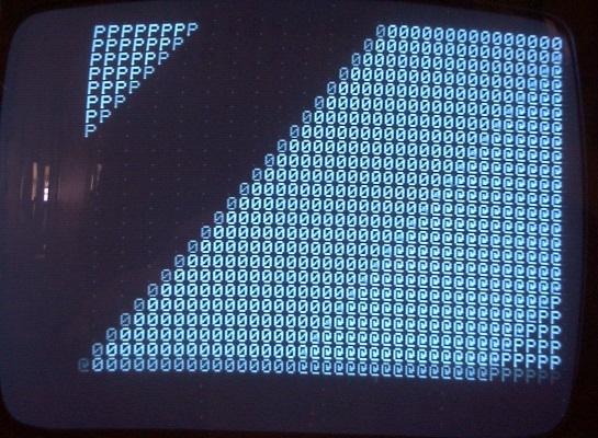 Bad 2519 producing diagonal stripes