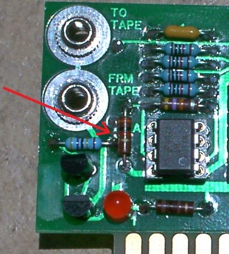 Volume LED mod: component side of ACI card