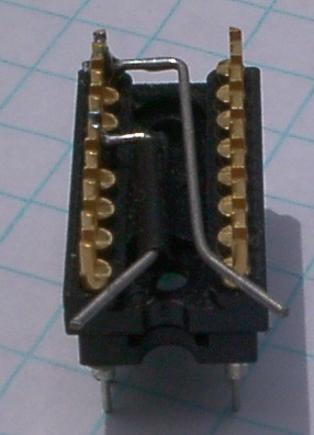 """The """"gimmick"""" switch using the keyboard cable header."""