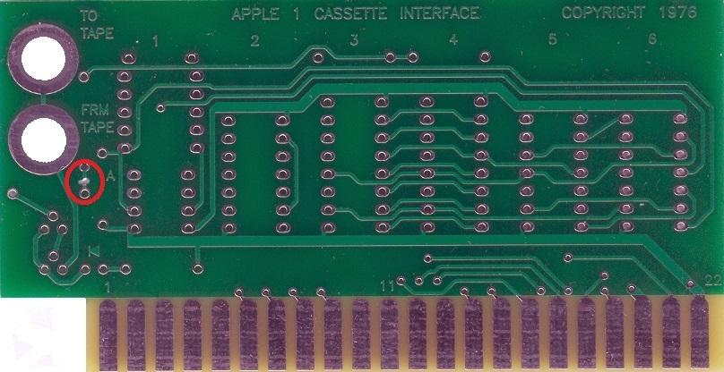 Component side cut for ACI volume indicator LED fix
