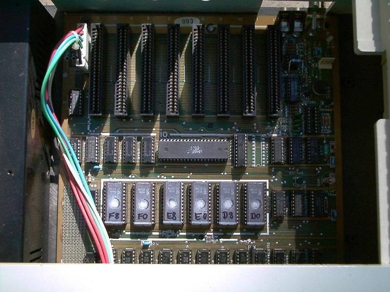 PC-48 Apple-II clone made in Taiwan, EPROM bank