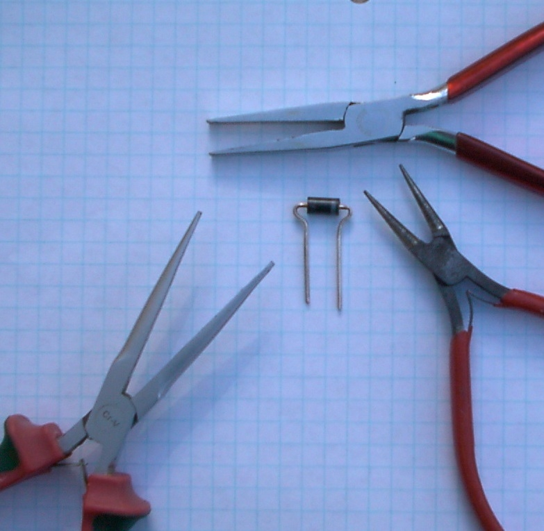 MR500 leads bent correctly with set of tools needed.