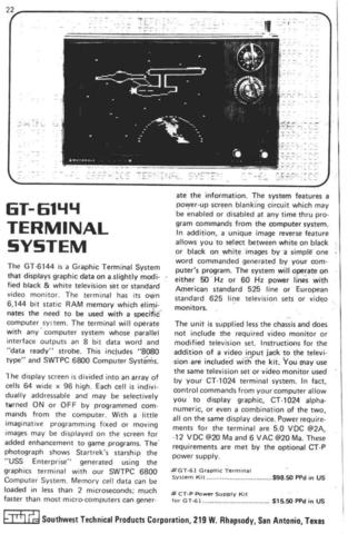 Apple I - GT-6144 Advert