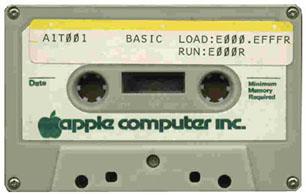 Apple I BASIC cassette